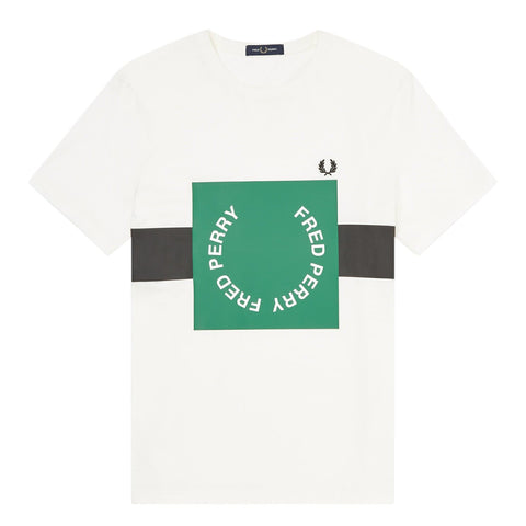 Fred Perry Bold Graphic T-Shirt Branco Frente