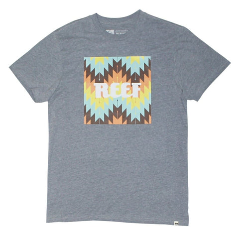 Reef Aztec T-Shirt Heather Grey