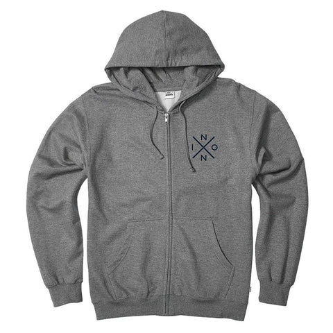 Nixon Spot Full Zip Hoodie Dark Heather Gray