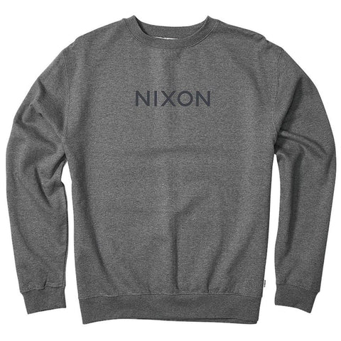 Nixon Wordmark Sweat Grey Heather