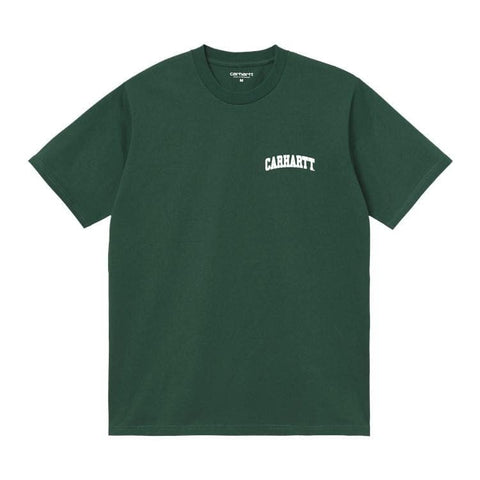 Carhartt WIP University T-Shirt Treehouse/White. Foto de frente.