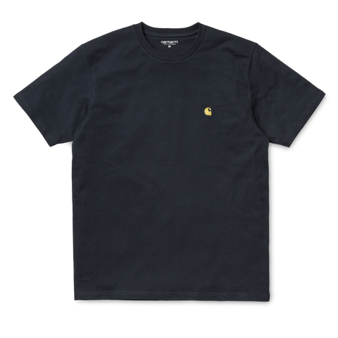 Carhartt Chase T-Shirt Dark Navy/Gold