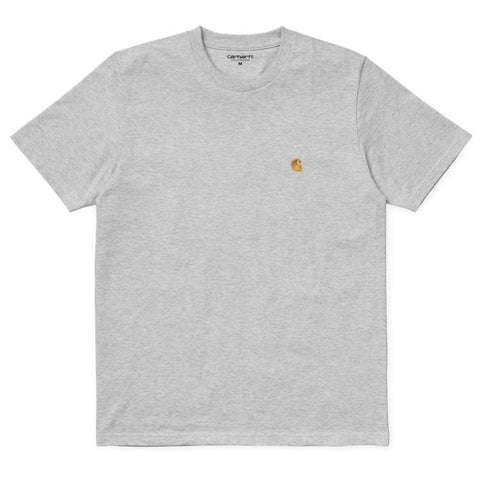 Carhartt Chase T-Shirt Ash Heather/Gold