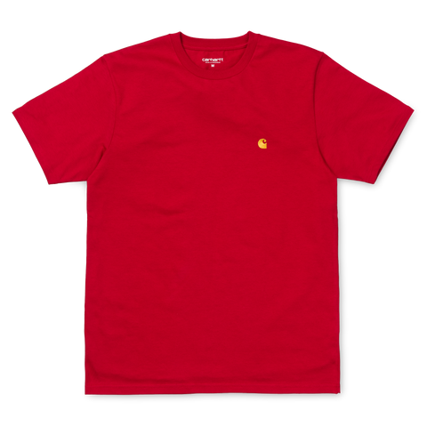 Carhartt Chase T-Shirt Blast Red/Gold