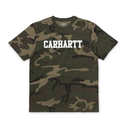 Carhartt WIP College T-Shirt Camo Laurel/White Front