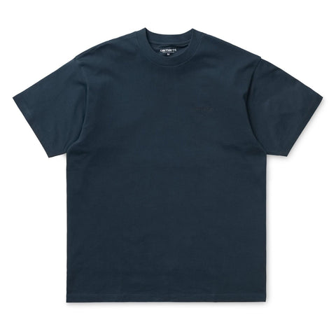 Carhartt Script Embroidery T-Shirt Duck Blue/Black