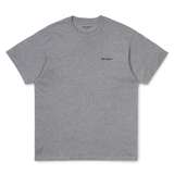 Carhartt WIP Script Embroidery T-Shirt Grey Heather