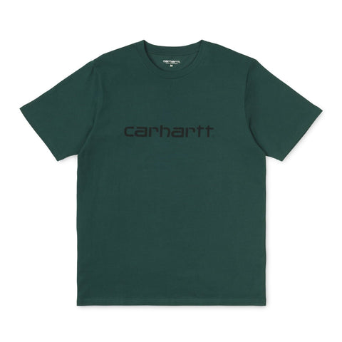 Carhartt Script T-Shirt Dark Fir/Black