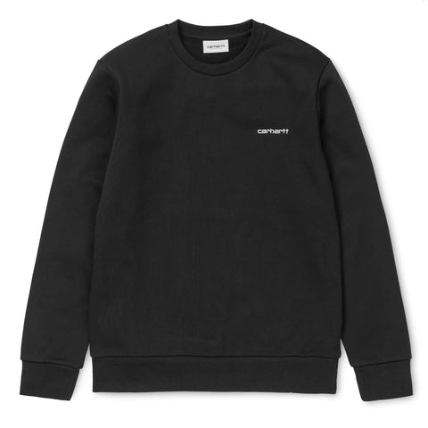 Carhartt WIP Script Embroidery Sweat Preto Frente