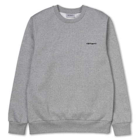 Carhartt Script Embroidery Sweat Grey Heather/Black