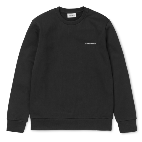 Carhartt Script Embroidery Sweat Black/White