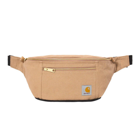Carhartt WIP Canvas Hip Bag em Dusty Hamilton Brown. Foto de frente.