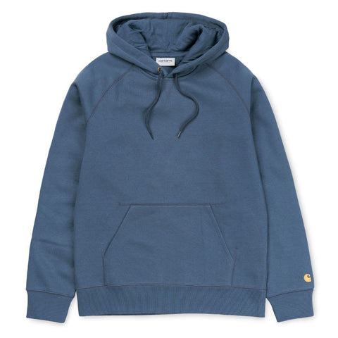Carhartt Hooded Chase Sweat Stone Blue/Gold