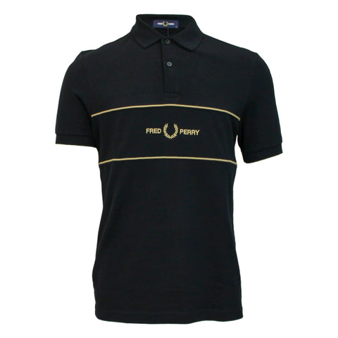 Fred Perry Authentic Embroidered Panel Logo Polo
