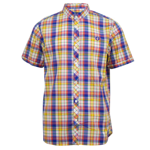 Fred Perry Summer Madras Shirt Regal