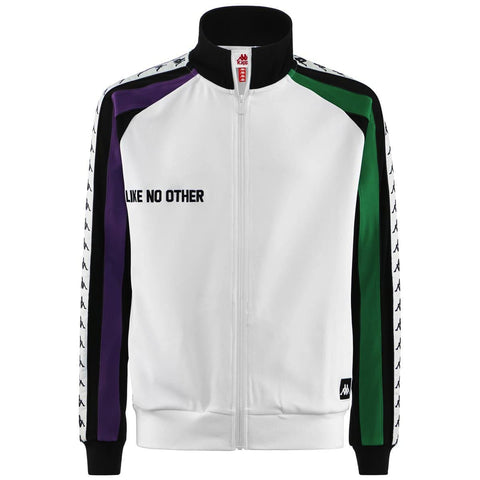 Kappa Bebek Auth Jacket White/Black/Violet/Green