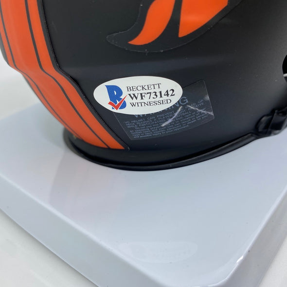 Jerry Jeudy Signed Denver Broncos Eclipse Mini-Helmet
