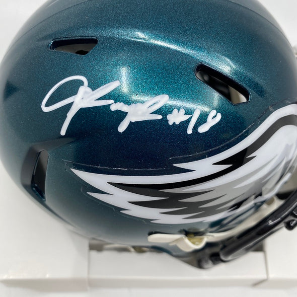 Jalen Reagor Signed Philadelphia Eagles Speed Mini-Helmet