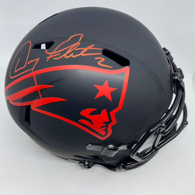 Doug Flutie Signed New England Patriots Eclipse Replica Helmet