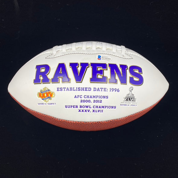 Patrick Queen Signed Baltimore Ravens White Panel Football
