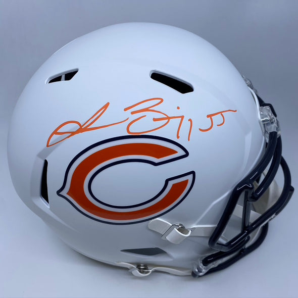 Lance Briggs Signed Chicago Bears Matte White Replica Helmet