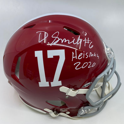 "Devonta Smith Signed Alabama Crimson Tide Full Size Authentic Speed Helmet ""Heisman 20"""