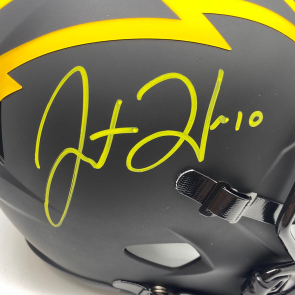 Justin Herbert Signed Los Angeles Chargers Full Size Eclipse Replica Helmet