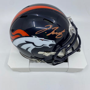 Jerry Jeudy Signed Denver Broncos Speed Mini-Helmet