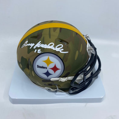 Terry Bradshaw Signed Pittsburgh Steelers Camo Mini-Helmet