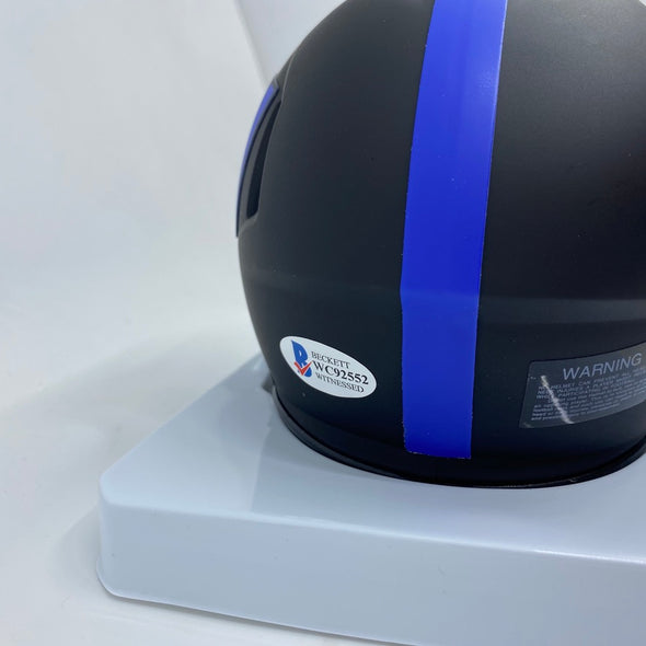 Saquan Barkley Signed New York Giants Eclipse Mini-Helmet