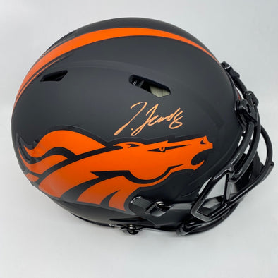 Jerry Jeudy Signed Denver Broncos Full Size Authentic Eclipse Helmet