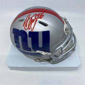 Saquon Barkley Signed New York Giants Amp Mini-Helmet-Red Ink