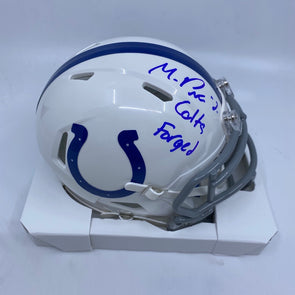 "Michael Pittman Jr Signed Indianapolis Colts Speed Mini-Helmet ""Colts Forged"""