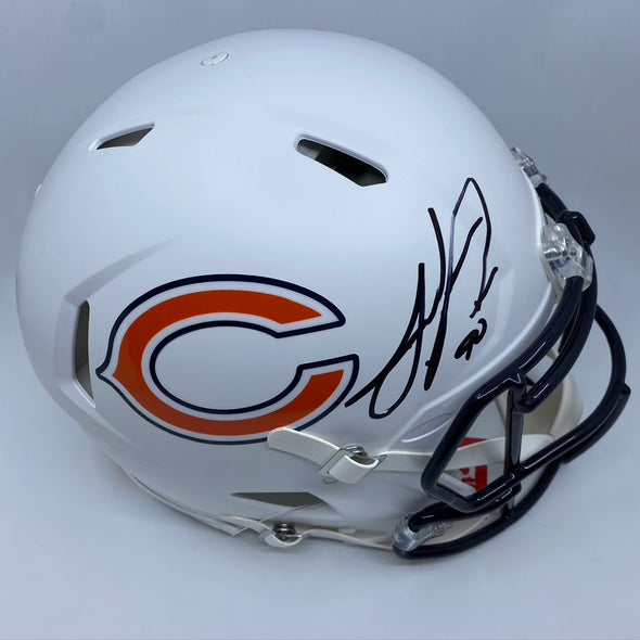 Julius Peppers Signed Chicago Bears Matte White Authentic Helmet