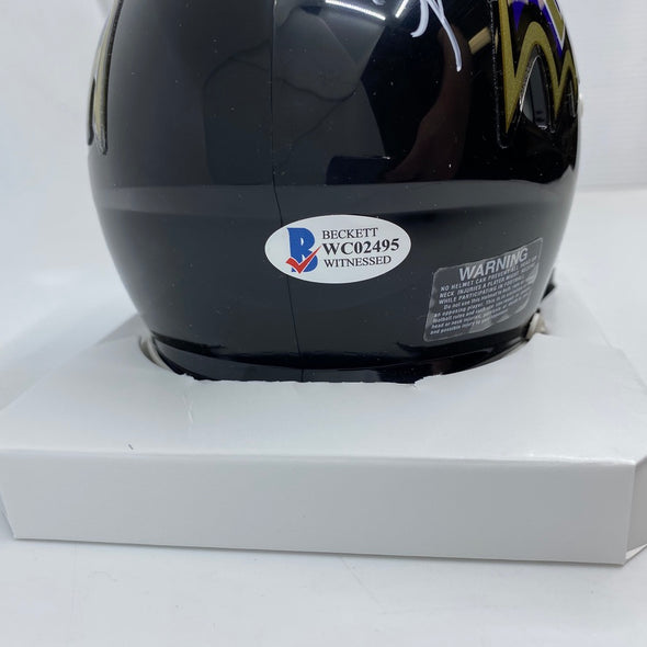 Patrick Queen Signed Baltimore Ravens Speed Mini-Helmet