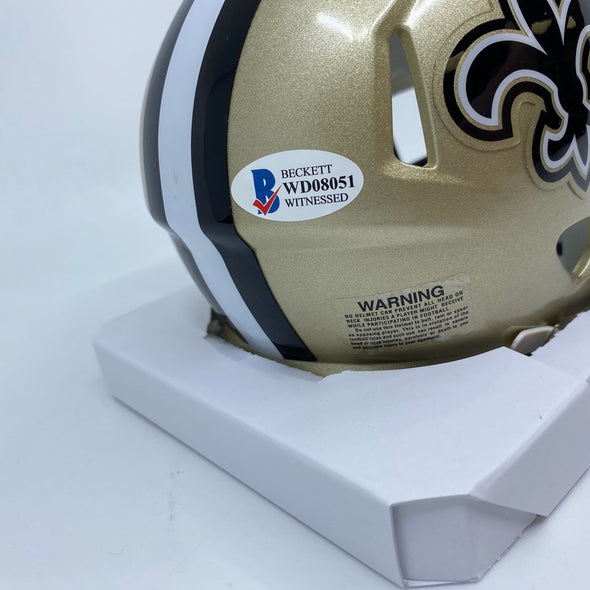 Adam Trautman Signed Mini-Helmet