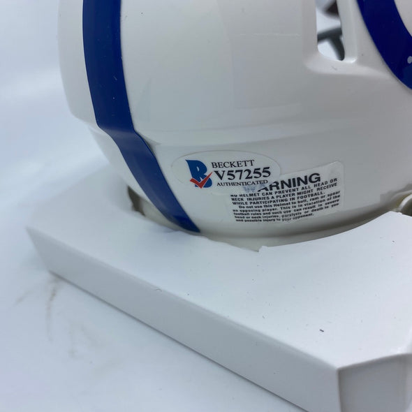 Michael Pittman Jr Signed Indianapolis Colts Speed Mini-Helmet