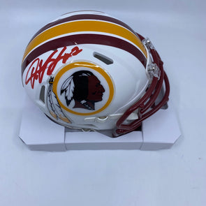 Dwayne Haskins Signed Washington Redskins Matte White Mini-Helmet