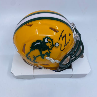 Trey Lance Signed North Dakota State Bison Speed Mini-Helmet