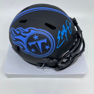 Eddie George Signed Tennessee Titans Eclipse Mini-Helmet