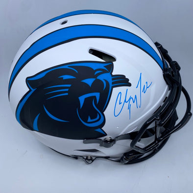 Christian McCaffrey Signed Carolina Panthers Authentic Lunar Eclipse Helmet