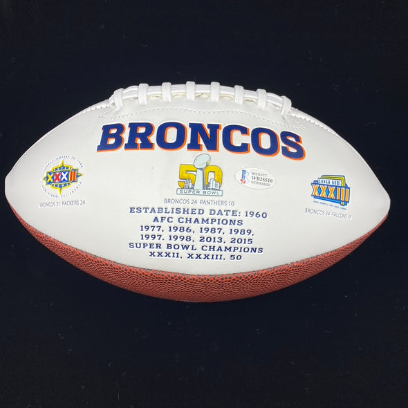 Jerry Jeudy Signed Denver Broncos White Panel Football