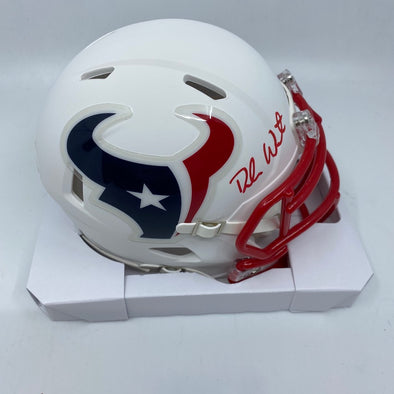 Deshaun Watson Signed Houston Texans Matte White Mini-Helmet