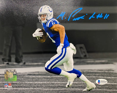 Michael Pittman Signed Indianapolis Colts 8x10 Spotlight Photo-Blue Ink