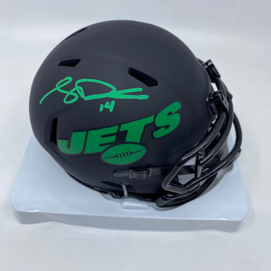Sam Darnold Signed New York Jets Eclipse Mini-Helmet
