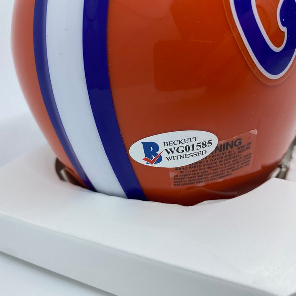 Kyle Pitts Signed Florida Gators Orange Speed Mini-Helmet