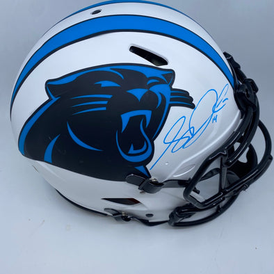 Sam Darnold Signed Carolina Panthers Full Size Authentic Lunar Eclipse Helmet