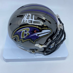 Mark Ingram Signed Baltimore Ravens Chrome Mini-Helmet