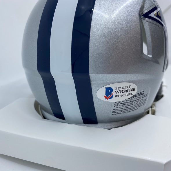 Jimmy Johnson Signed Dallas Cowboys Speed Mini-Helmet