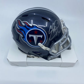 Eddie George Signed Tennessee Titans Speed Mini-Helmet